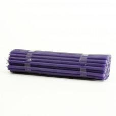 Свеча парафиновая фиолетовая 50 шт в пачке