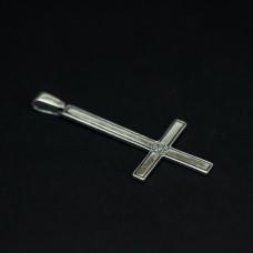 Крест перевернутый с пентаклем вар.2 серебро 5,8 г 403