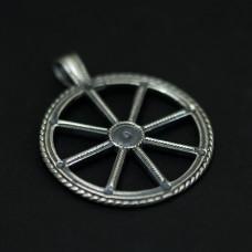 Громовое колесо, Перуново колесо (серебро) 6,5гр. D=3см 2948