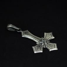 Крест перевернутый с пентаклем №1 (серебро) ,5,04г, 30х43мм 412