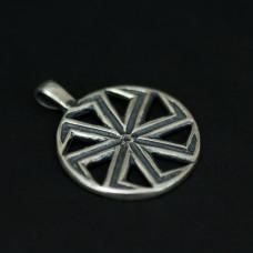 Коловрат 8 лучей (серебро), 26мм 963
