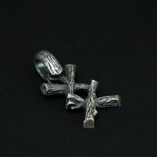 Руна-подвеска серебро Ингуз 8,85 гр 4181