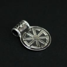 Коловрат 8 лучей малый (серебро),18х22мм 1632